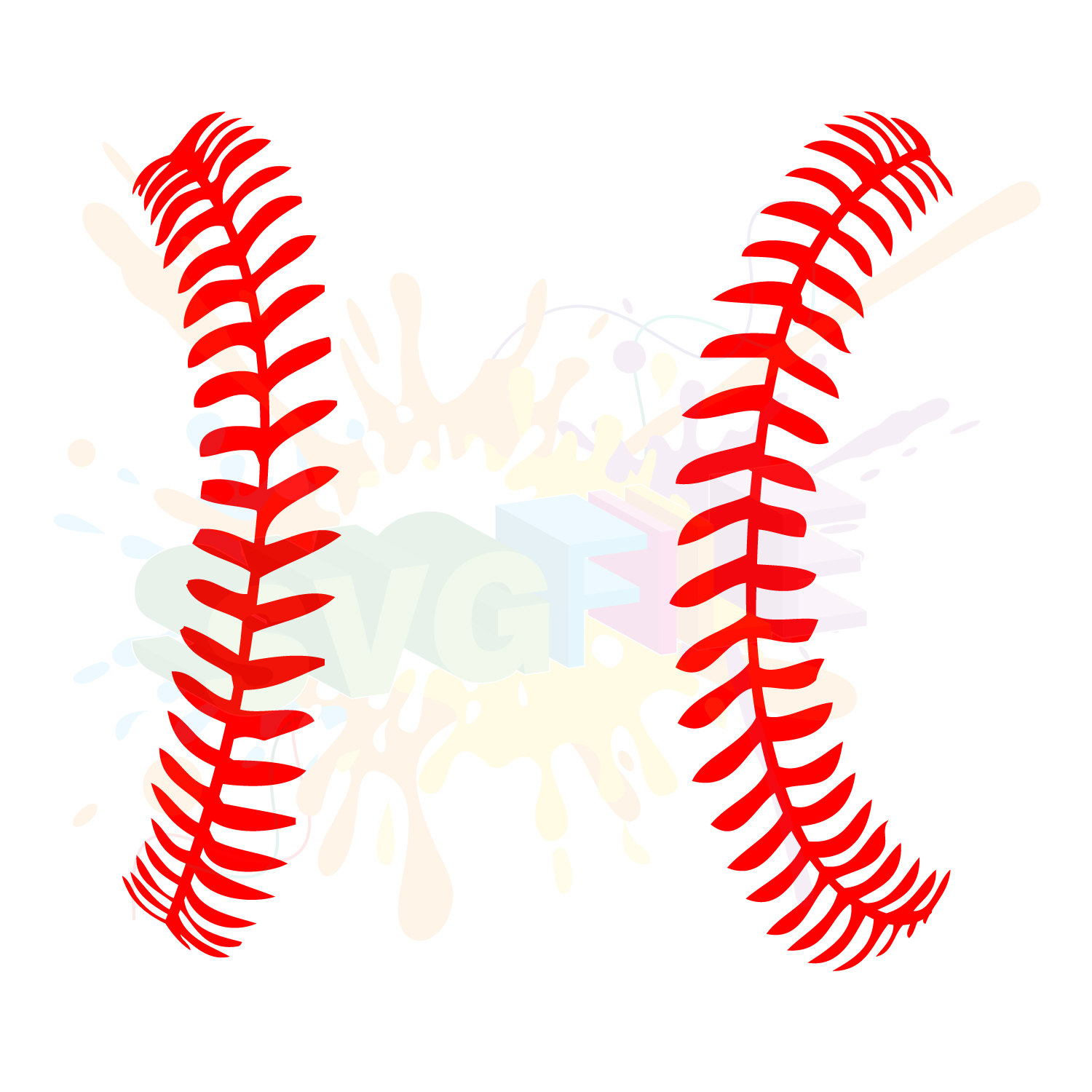 softball stitches clipart for silhouette #19