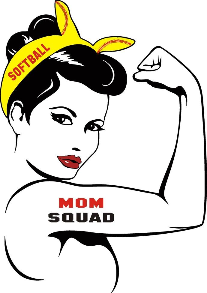 Softball Mom SVG, Softball Svg, Softball Rosie Svg, Girl Power SVG, png,  eps, svg, dxf, Girl Clipart,.