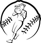 Softball Clip Art and Illustration. 3,355 softball clipart vector.