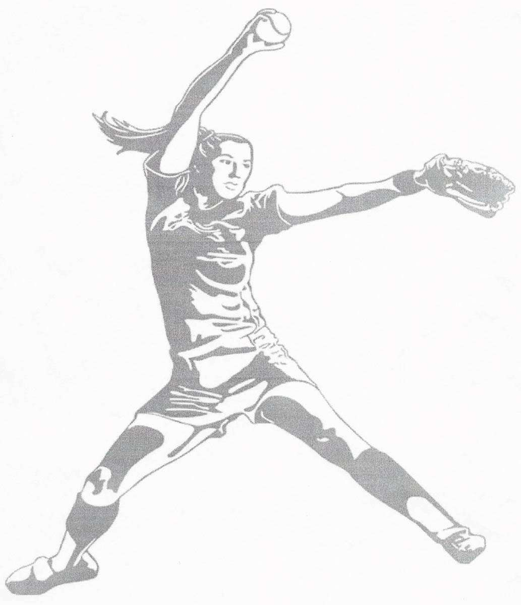 Fastpitch Softball Pitcher Clipart.