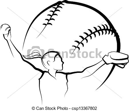 Softball Illustrations and Clipart. 4,250 Softball royalty free.
