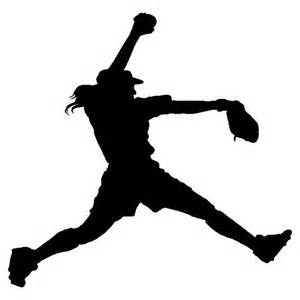 Softball Clipart Silhouette.