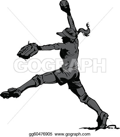 Softball Clip Art.