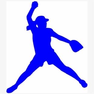 Softball Pitcher Clipart.