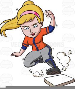 Female Softball Player Clipart.