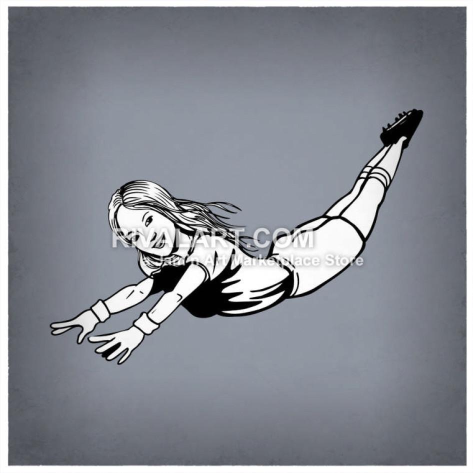 Black White Softball Player Sliding Stealing Base Girls.