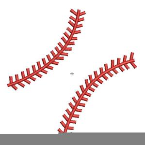 Softball Stitches Clipart.
