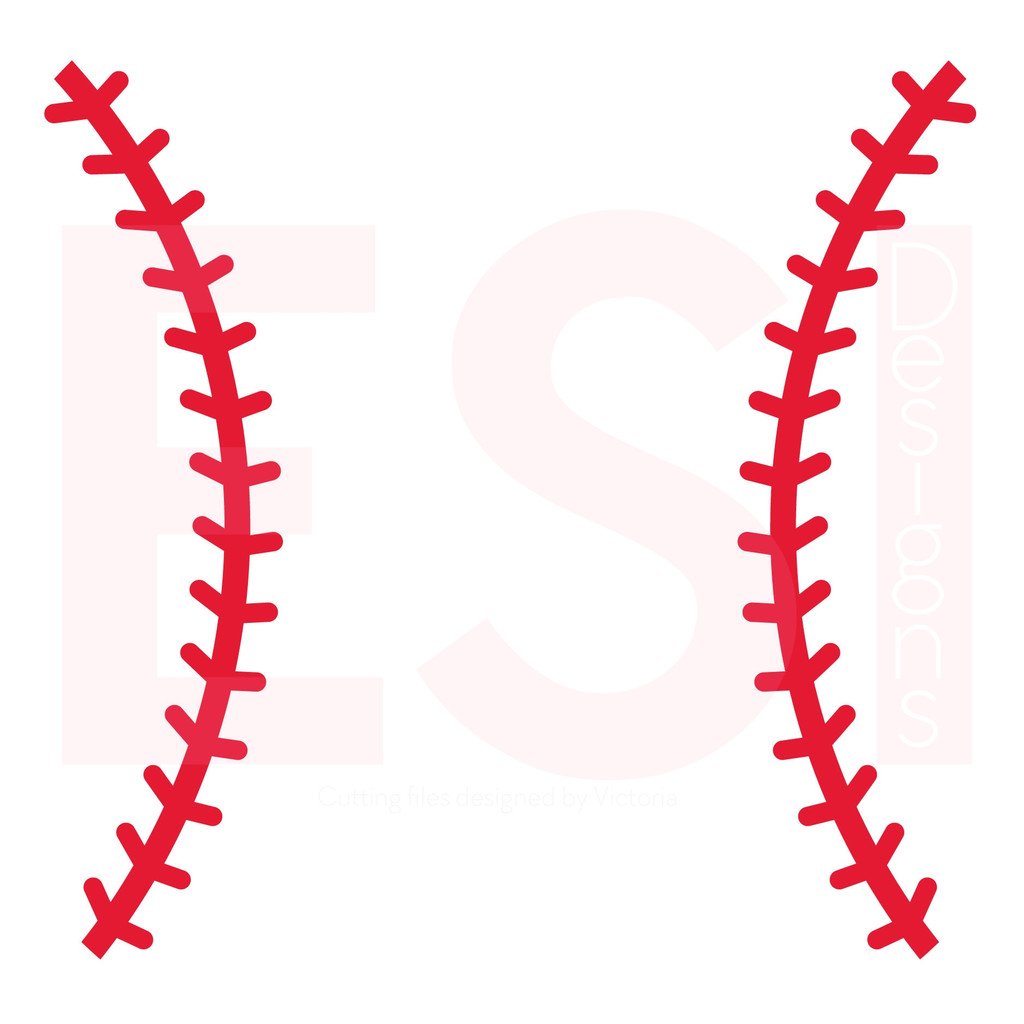 softball stitches clipart for silhouette #3