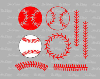 softball stitches clipart for silhouette #2