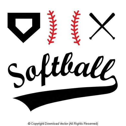 softball stitches clipart for silhouette #15