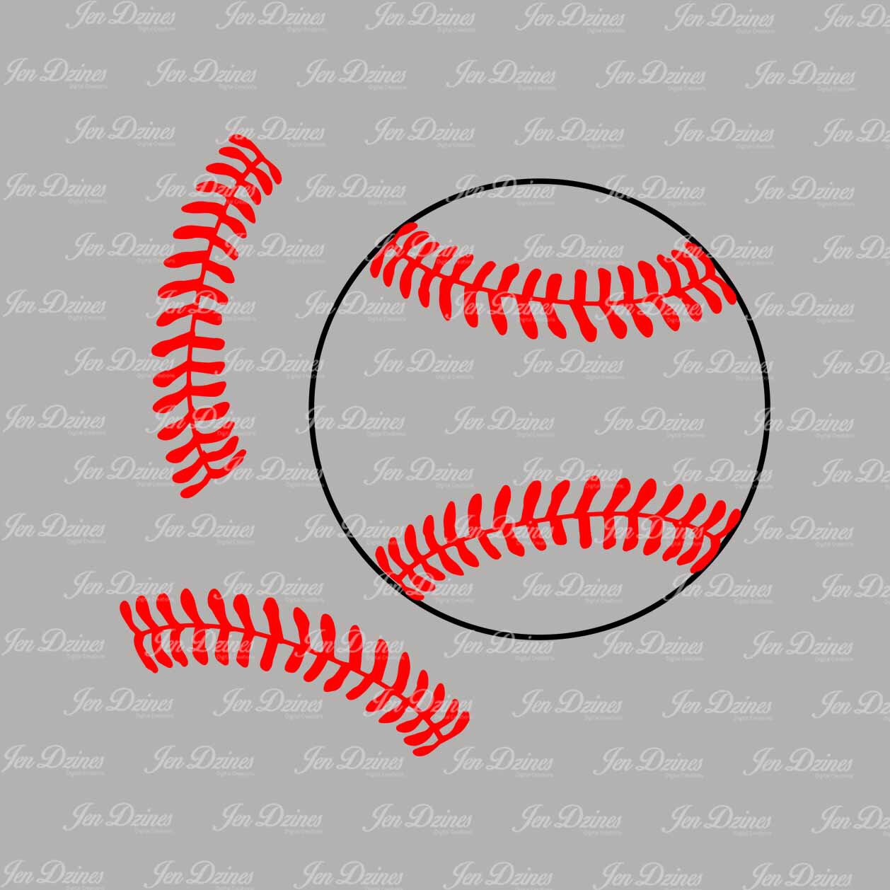softball stitches clipart for silhouette #13