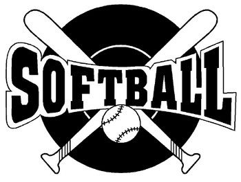 Softball images clip art.