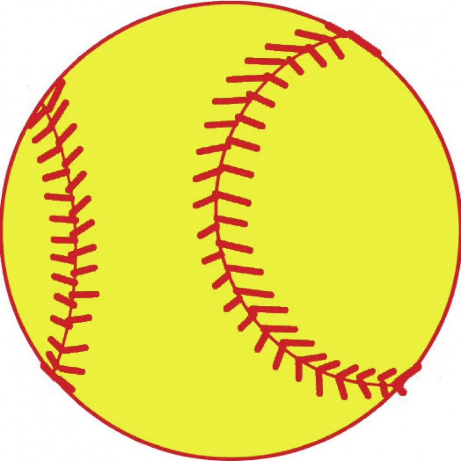 Clipart Softball Girl Holding Out A Ball With Bat Resting On.