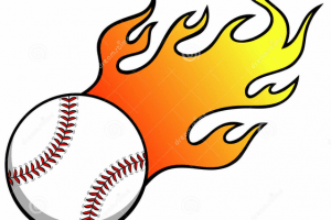 Softball with flames clipart » Clipart Portal.