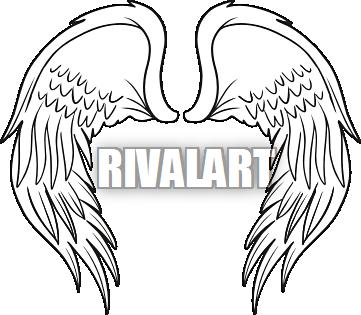 Softball Angel Wings Clipart.