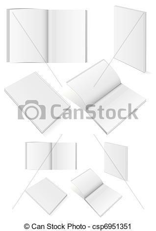 Vector Clip Art of Set of books with softcover..