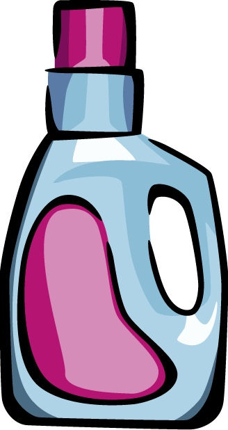 Removing clipart glue with fabric softener.