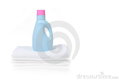 Fabric Softener Detergent Container Royalty Free Stock Photos.