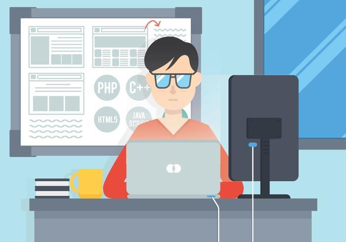 Software engineers vector.