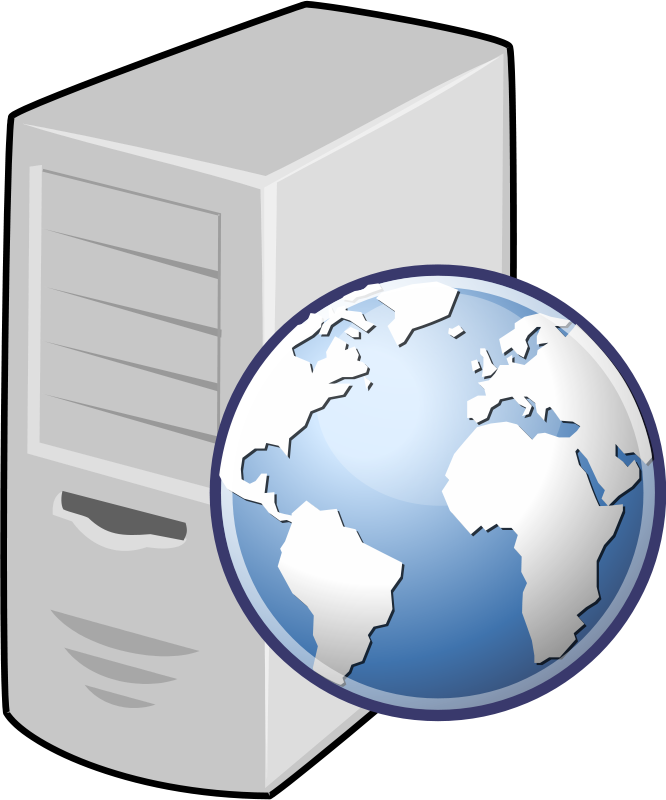 Application server clipart.