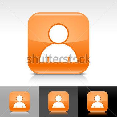 Orange Glänzend Webschaltfläche MIT Weißen Benutzer Profil.