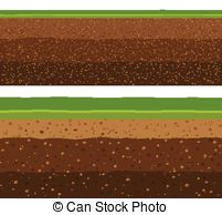 EPS Vector of soil layers with grass.