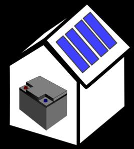House Solar Battery Clip Art.