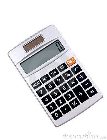 Solar Powered Calculator Stock Photography.