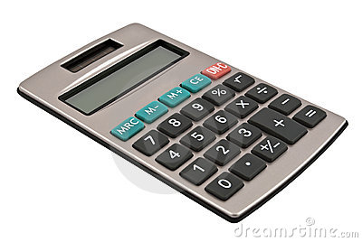 Calculator With A Solar Battery Stock Photo.