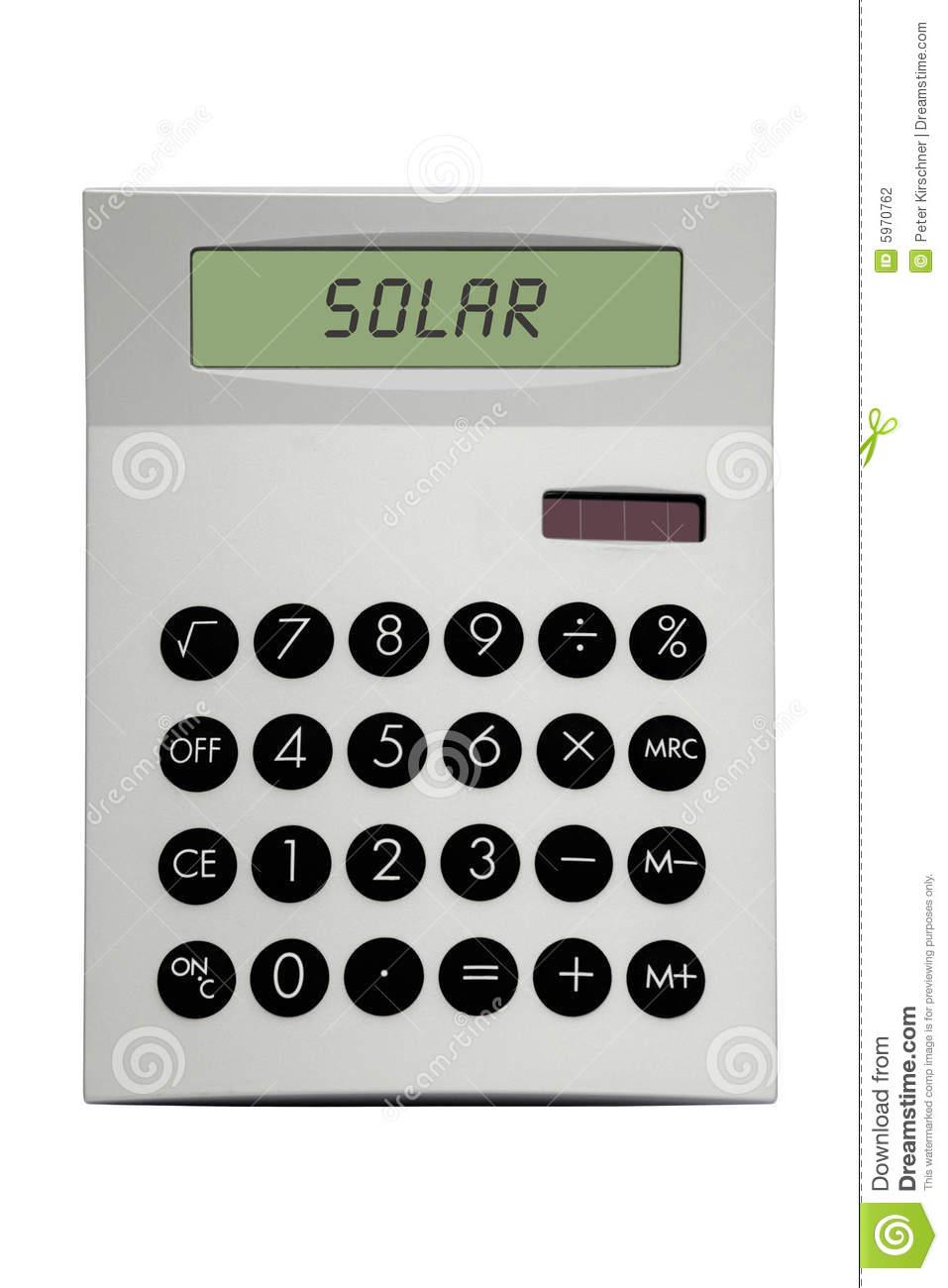 Solar Calculator Stock Photography.