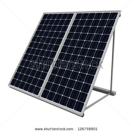 Solar Panel Isolated Stock Photos, Royalty.