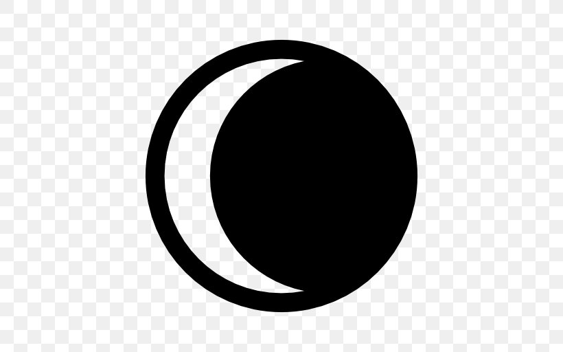 Symbol Moon Lunar Phase Solar Eclipse, PNG, 512x512px.