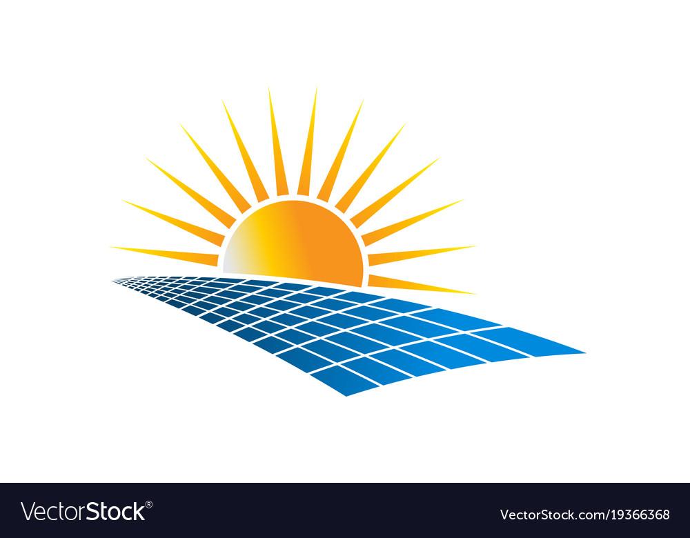 Solar power energy logo.