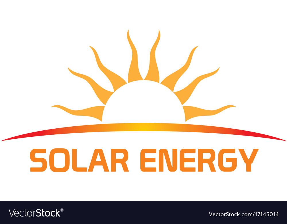 Solar energy nature company logo.