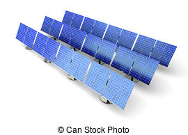 Clipart of Solar Panel line.