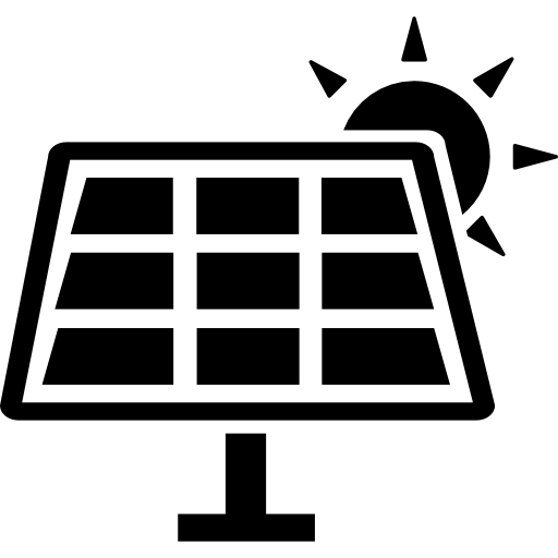 Solar powered Icons.