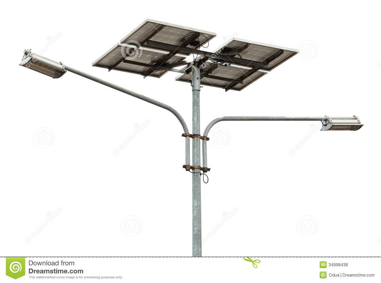 Solar Powered Street Light Royalty Free Stock Image.