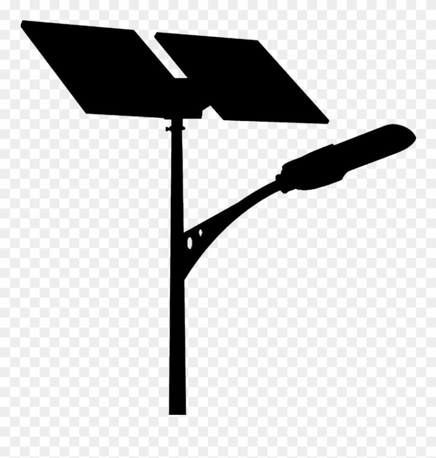 Solar Street Light Silhouette.