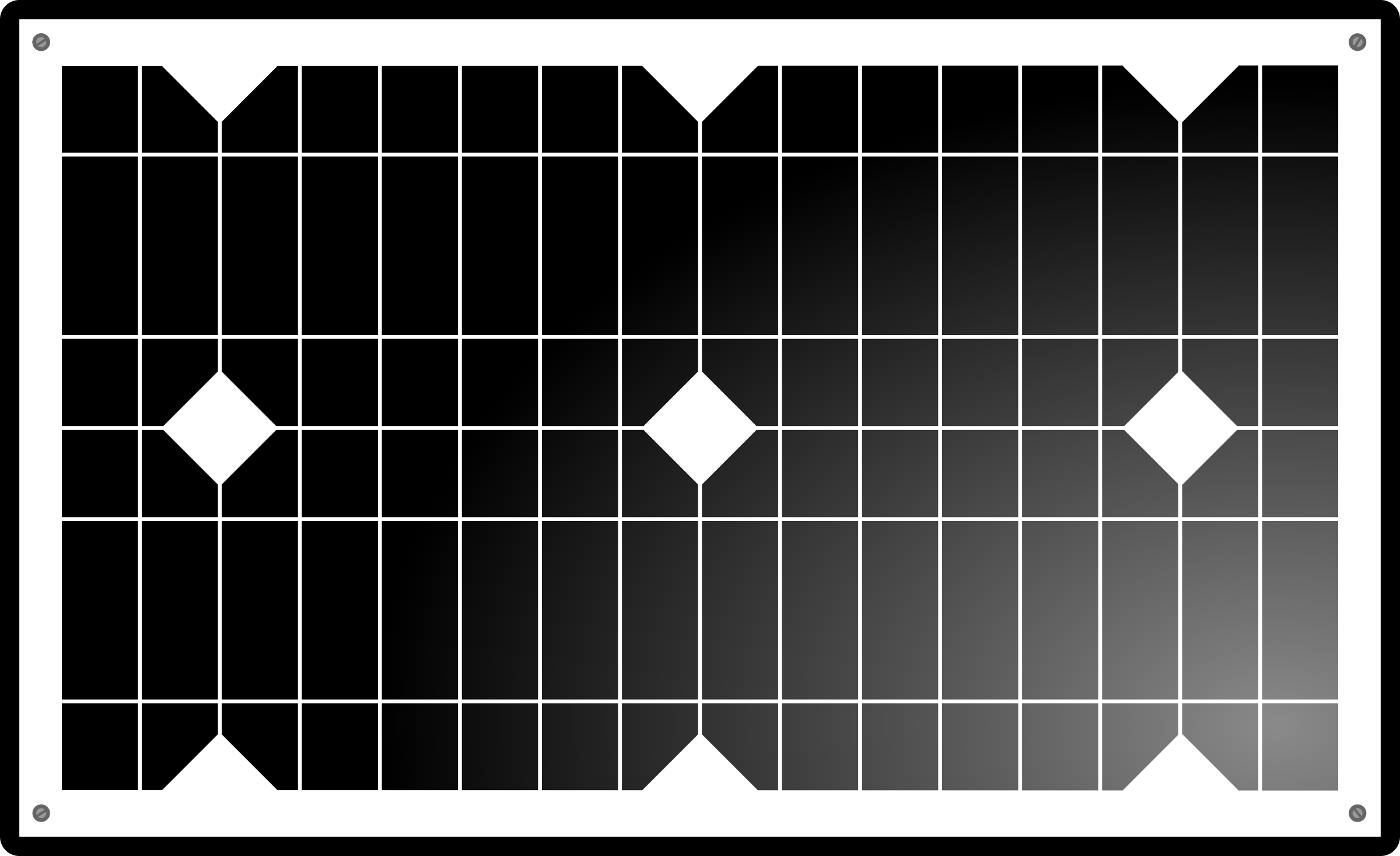 Solar panel clipart black background.