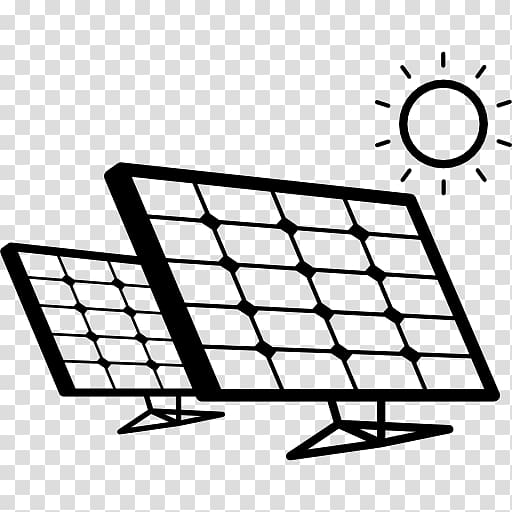 Solar panels and sun illustration, Solar power Solar energy.