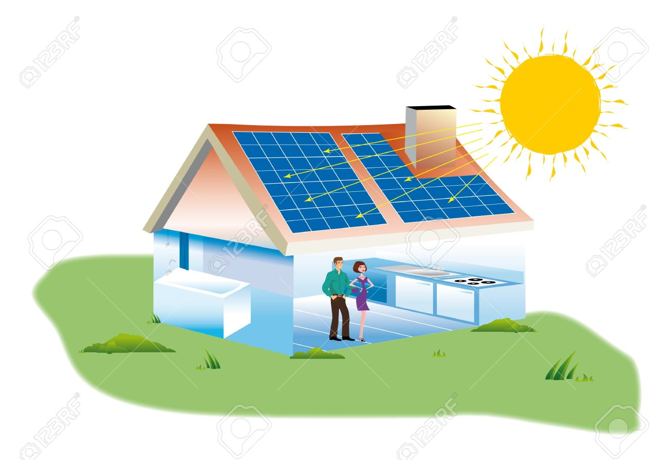 Solar panel house clipart clipground for Solar electricity for kids