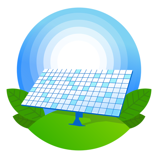 Nature solar panel icon.