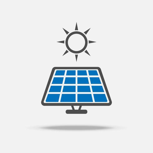 Solar cell logo and icon. Power and Energy saving concept.