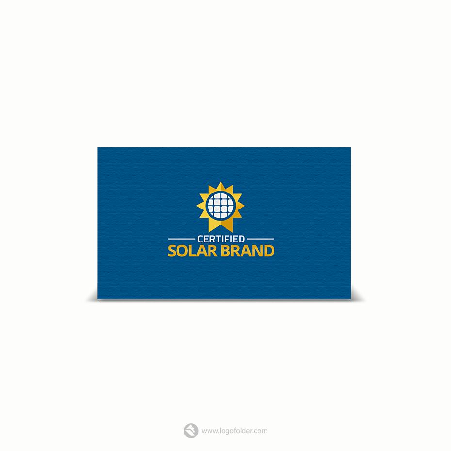 Certified Solar Panel Logo for sale • LogoFolder.
