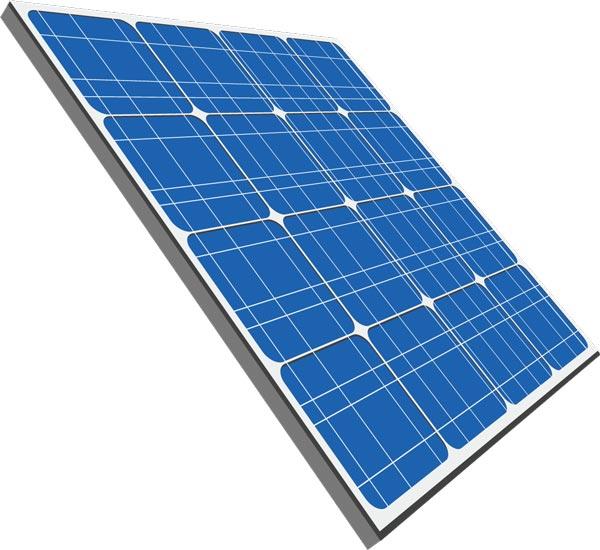 Solar panels vectors.