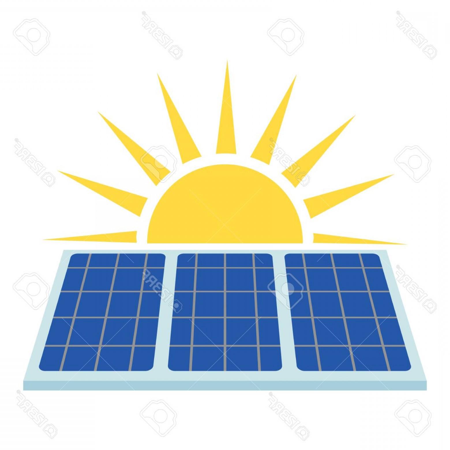 Photostock Vector Solar Panel Icon Flat Illustration Of.