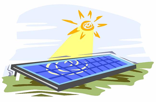 Solar Radiation Clip Art.