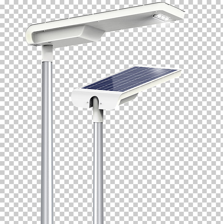 Solar street light Solar energy Light fixture, light PNG.