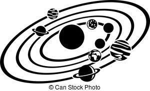 Image result for solar system clip art black and white.