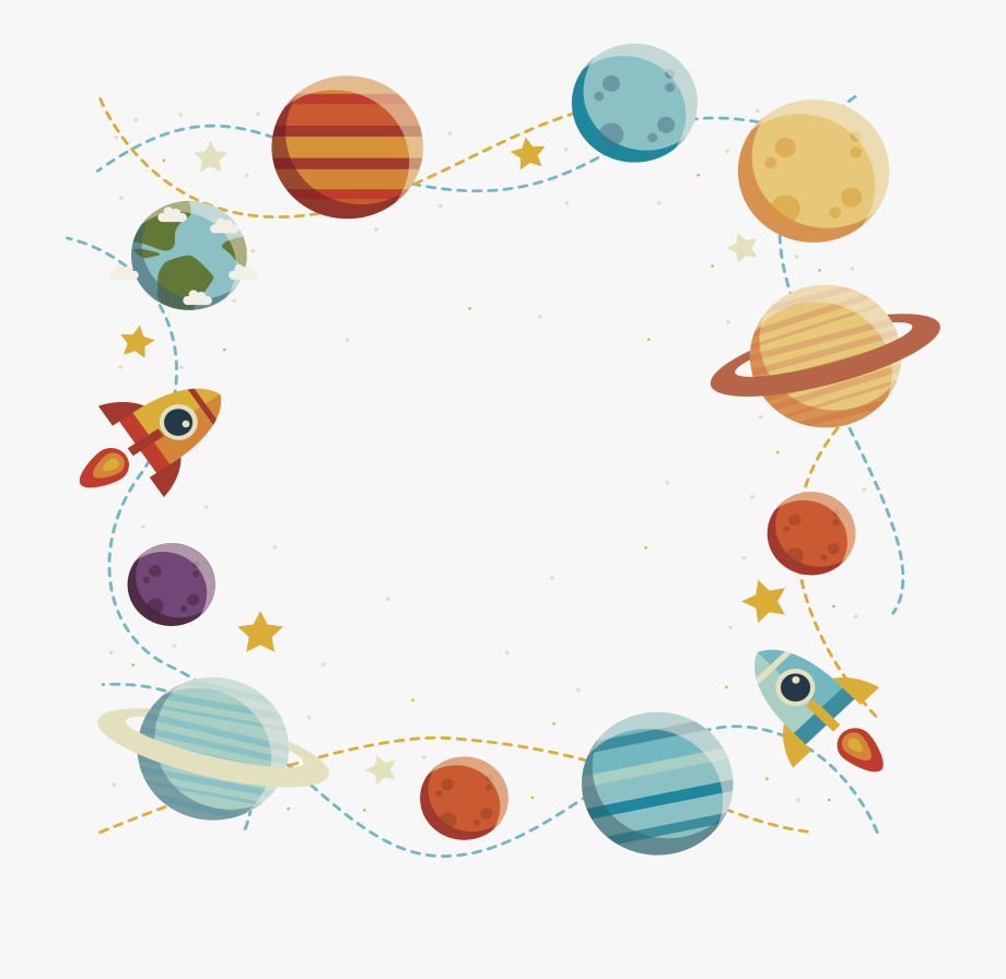 Planets Clipart Rocket.